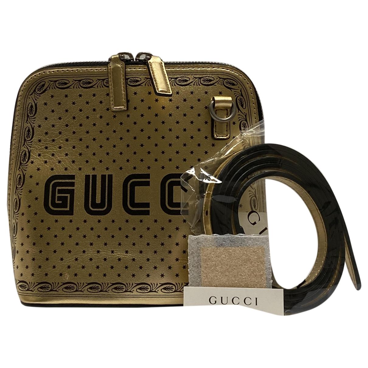 Gucci - Sac a main Guccy minibag pour femme en cuir - dore