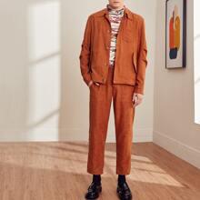 Men Slant Pocket Tailored Pants