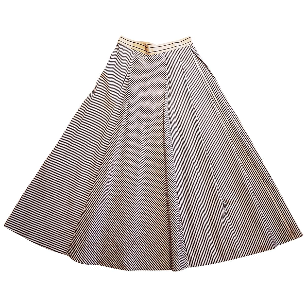 Max Mara Weekend \N White Cotton skirt for Women 38 FR