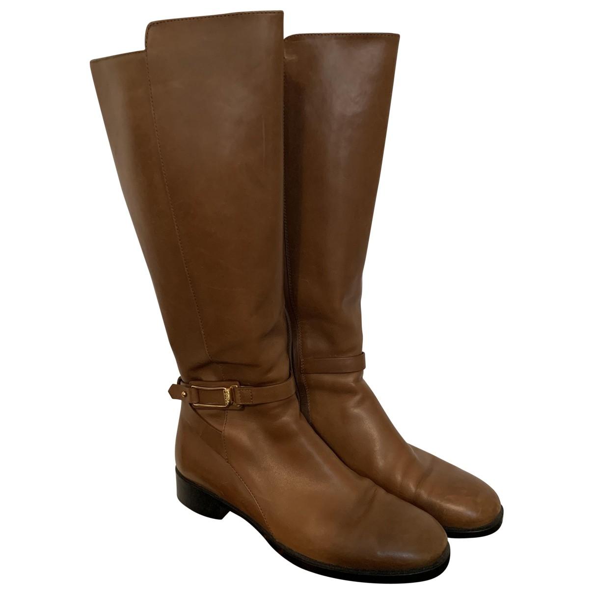 Tods - Bottes   pour femme en cuir - marron