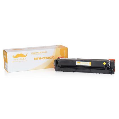 Compatible HP 202X CF502X cartouche de toner jaune haute capacité - Moustache®