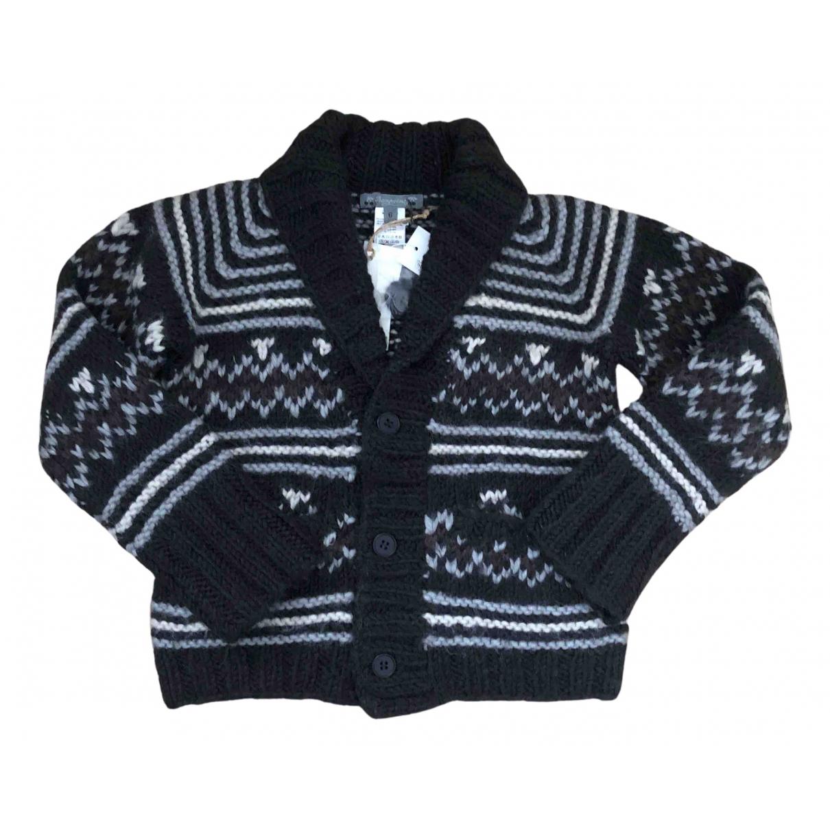 Bonpoint - Pull   pour enfant en laine - noir