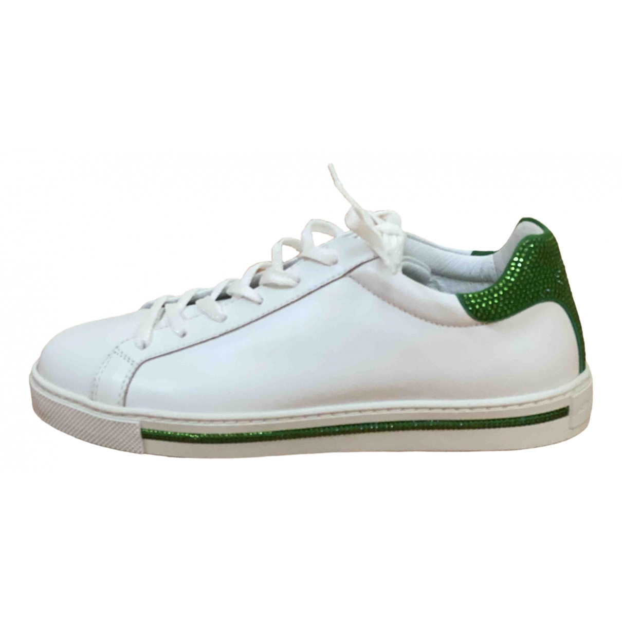 Rene Caovilla \N Green Glitter Trainers for Women 39 EU