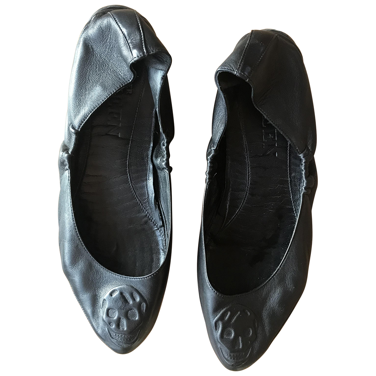 Alexander Mcqueen \N Ballerinas in  Schwarz Leder