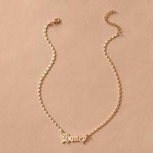 Letter Charm Necklace 1pc