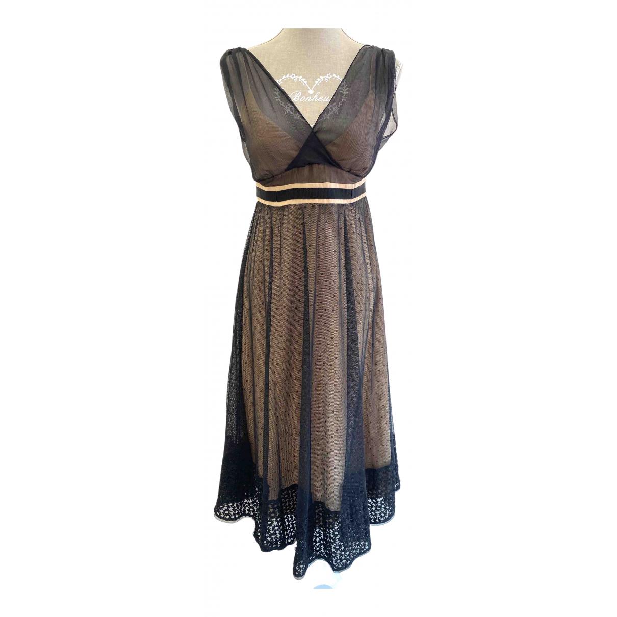Alessandro Dell'acqua \N Black Cotton dress for Women 42 IT