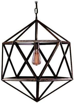 320217 Lindsay Cage 1-light Edison Lamp with Bulb in