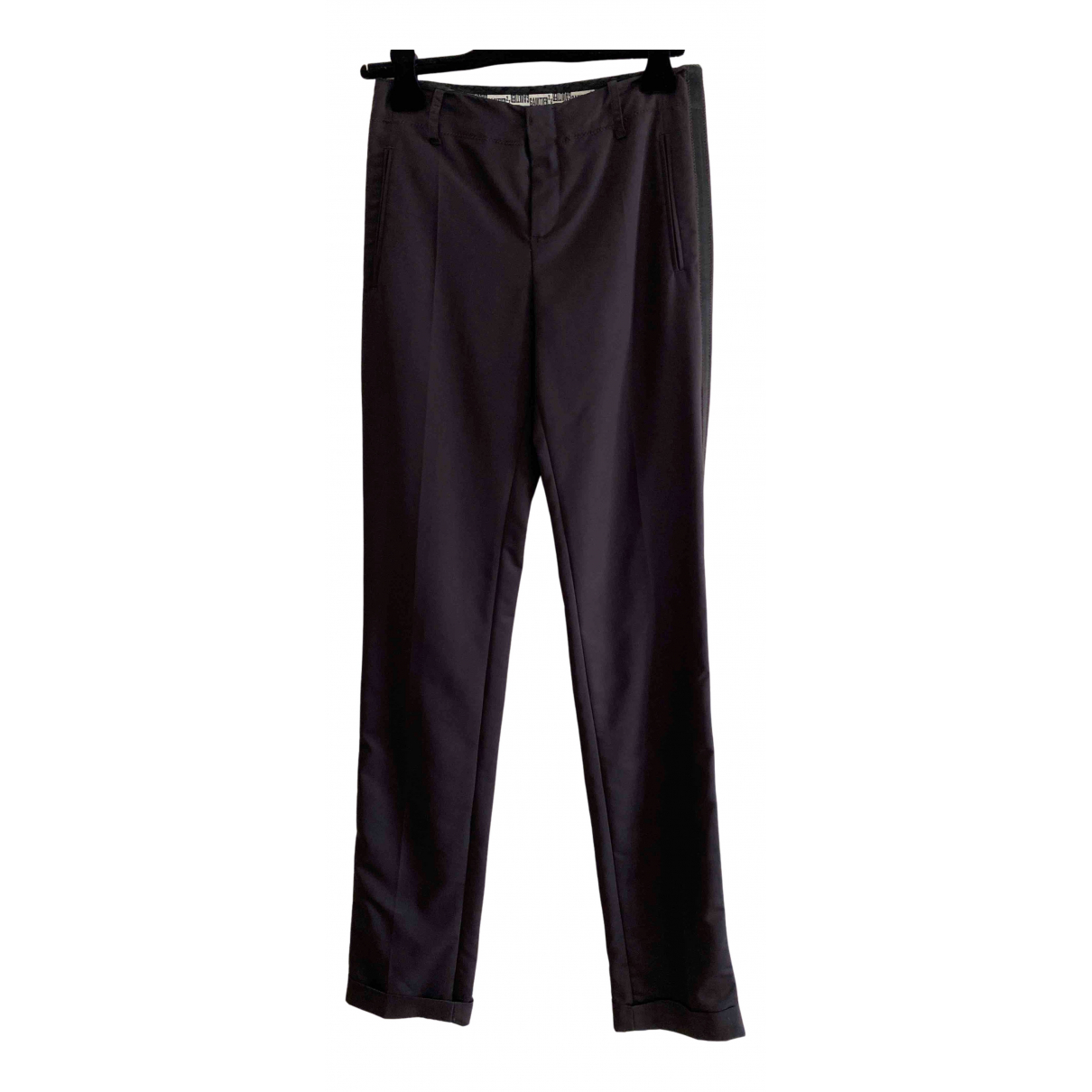 Jean Paul Gaultier N Purple Wool Trousers for Women 40 IT
