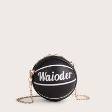 Mini Basketball Shaped Crossbody Bag