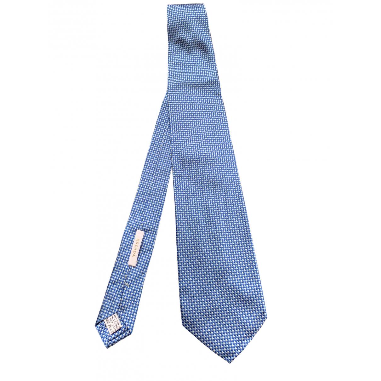 Escada \N Krawatten in  Blau Seide