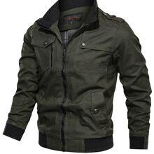 Men Flap Pocket Zip Detail Jacket