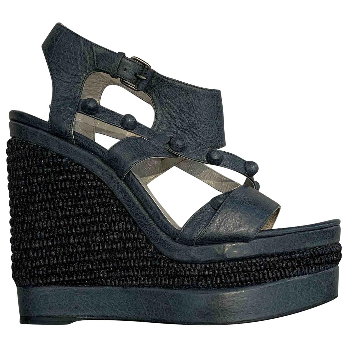 Balenciaga \N Grey Leather Sandals for Women 41 EU