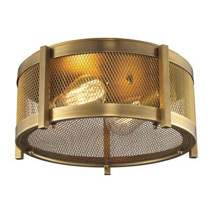 31481/2 Rialto Collection 2 Light flush mount in Aged