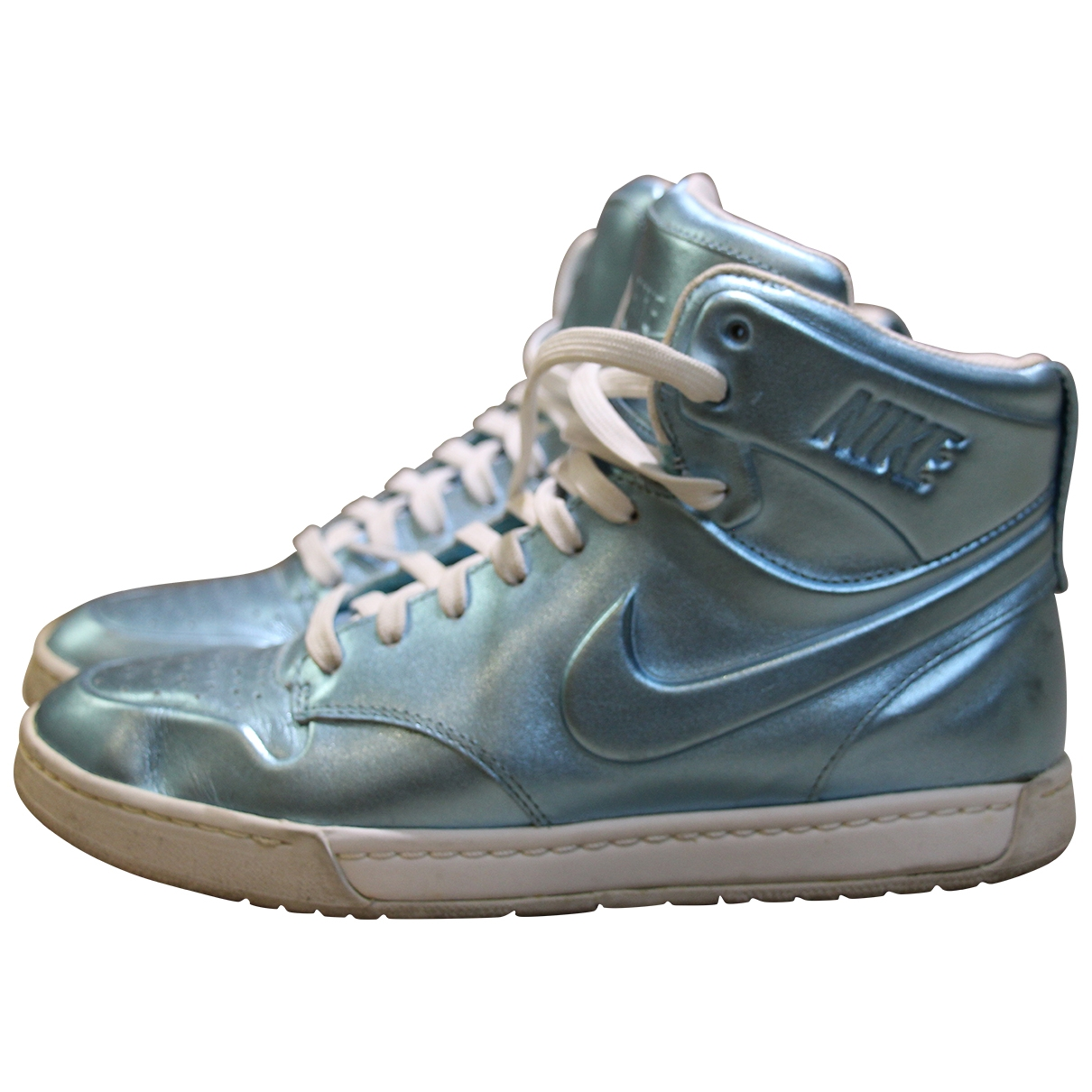 Nike Dunk Sky Metallic Leather Trainers for Women 7 US