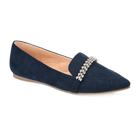 Journee Collection Womens Kyrah Loafers, 8 1/2 Medium, Blue