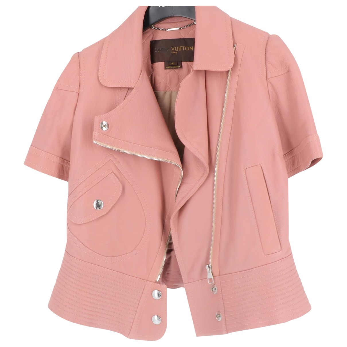 Louis Vuitton \N Pink Leather jacket for Women 40 FR