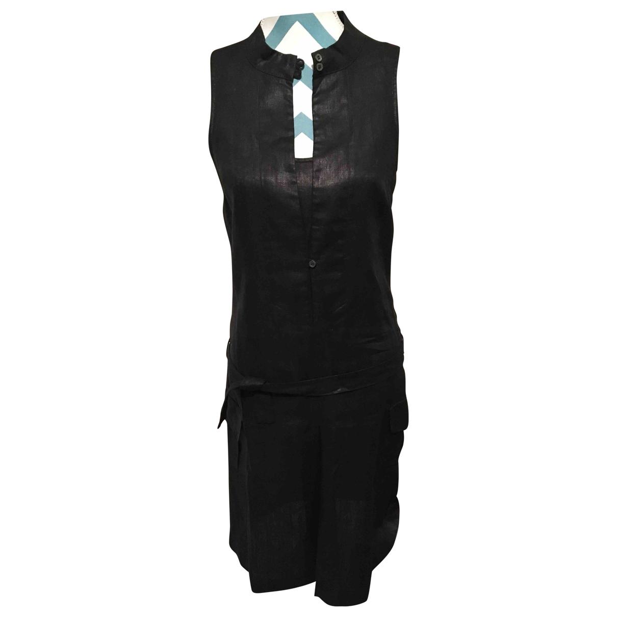 Ikks \N Black Linen dress for Women 36 FR