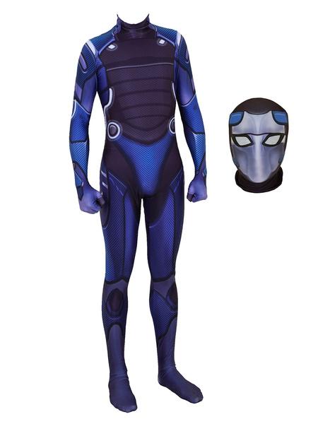 Milanoo Halloween Carnaval Mono Fortnite Cosplay Omega Azul Cosplay Custome