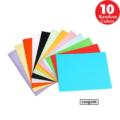 Construction Paper, 8-1/4 x 11-3/4, 10 Assorted Colors, 100 Sheets