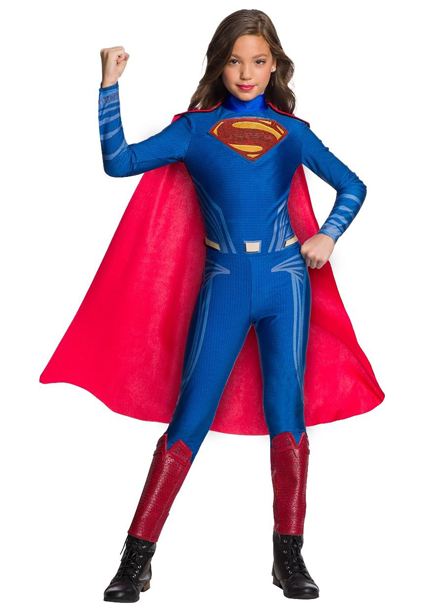 Superman Girl's Jumpsuit Costume