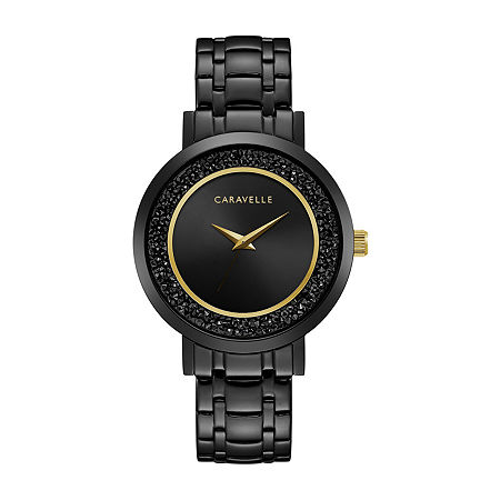 Caravelle Designed By Bulova Womens Black Stainless Steel Bracelet Watch-45l181, One Size , No Color Family