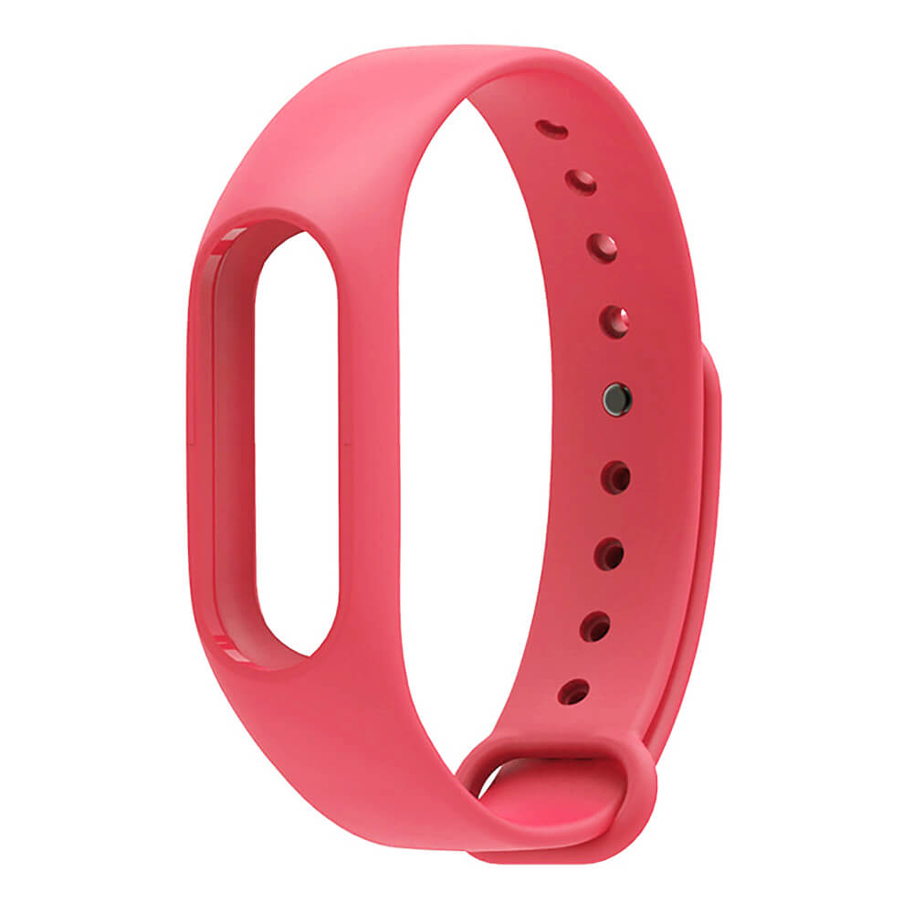 Replaceable Silicone Wrist Strap for Xiaomi Mi Band 2 - Red