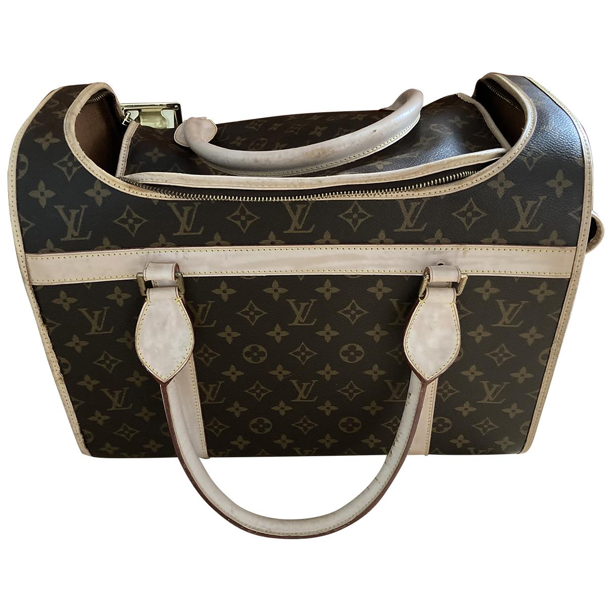 Louis Vuitton Sac chien Accessoires in  Braun Baumwolle