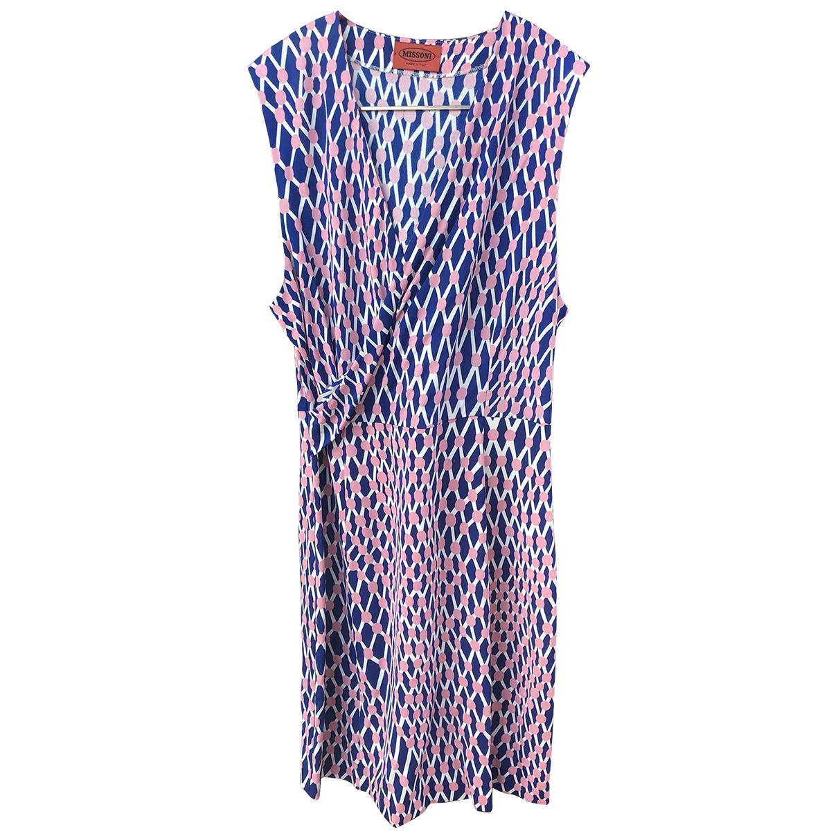 Missoni \N Kleid in  Blau Seide