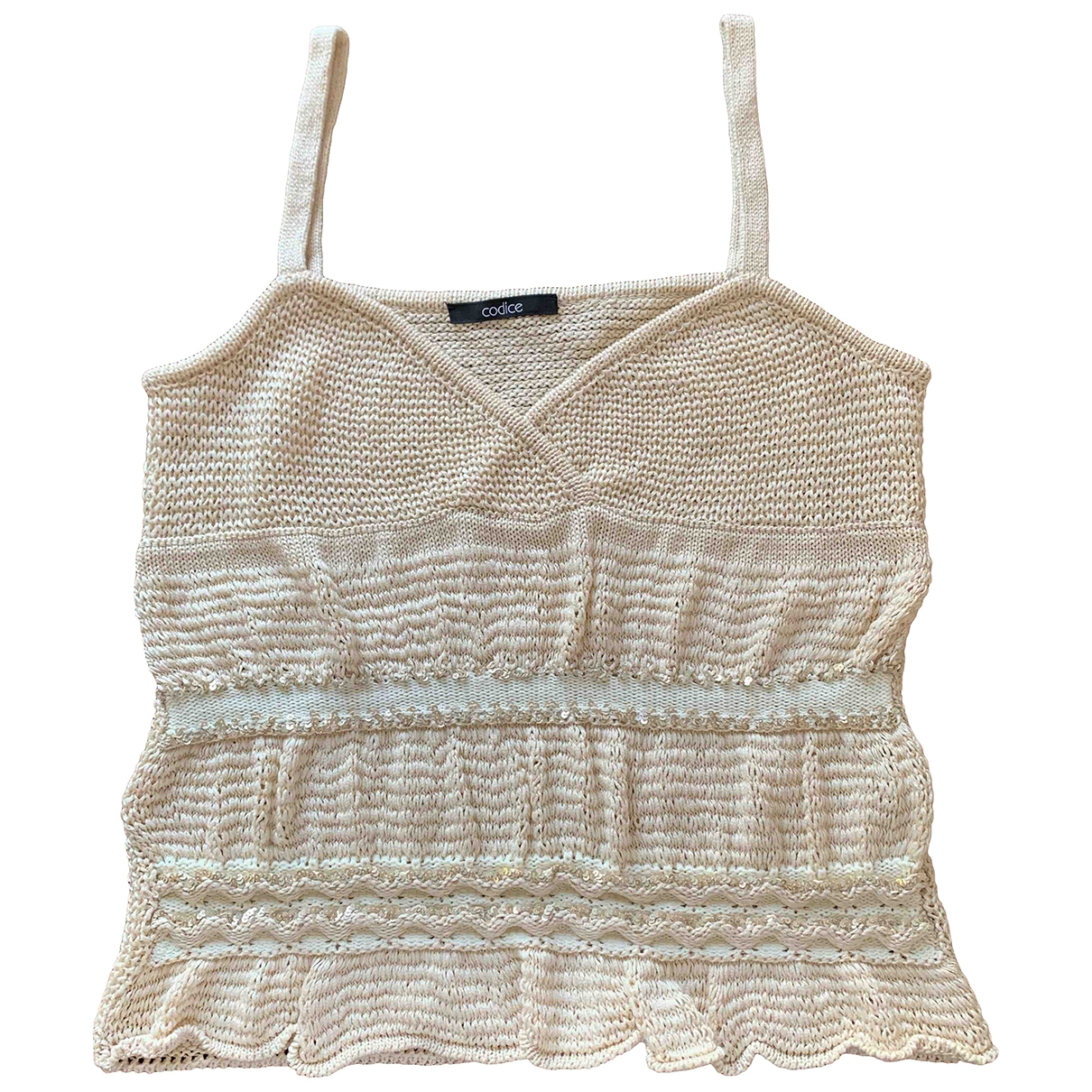 Non Signé / Unsigned \N Beige Cotton  top for Women 42 IT