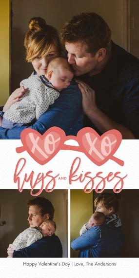 Valentines Day Cards 4x8 Flat Card Set, 85lb, Card & Stationery -Valentine xoxo Hugs by Tumbalina