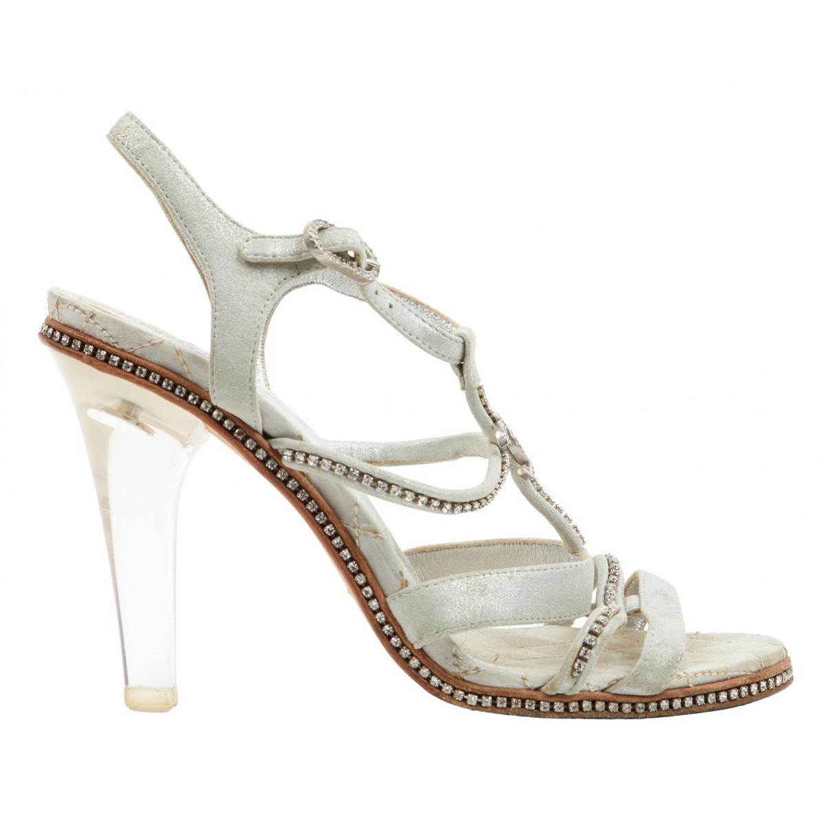 Chanel N Beige Suede Sandals for Women 36.5 EU