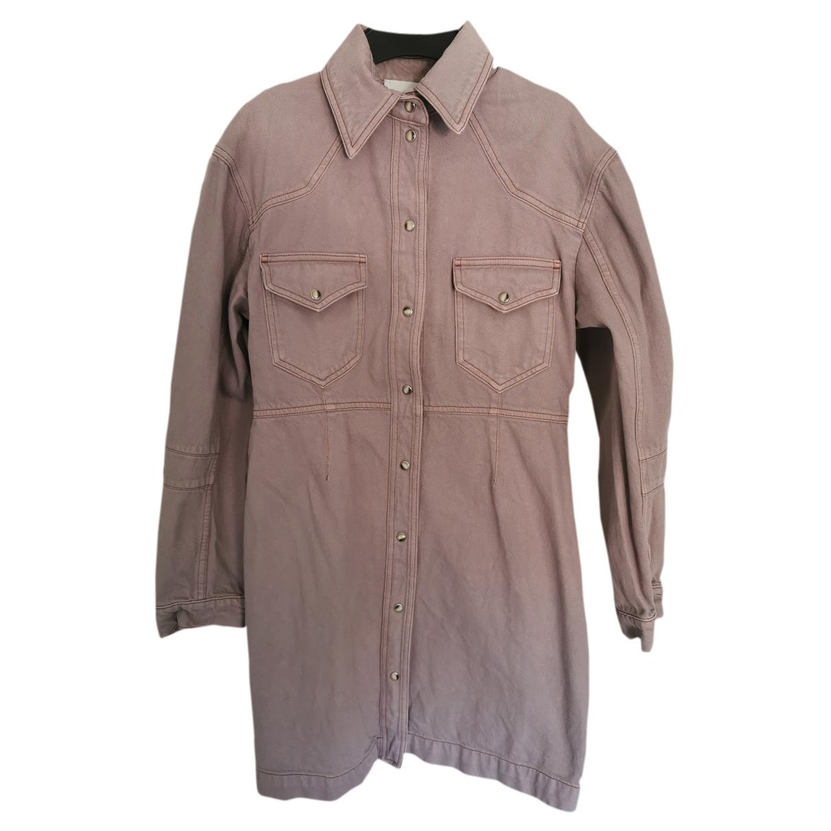 Nanushka - Robe   pour femme en coton - rose