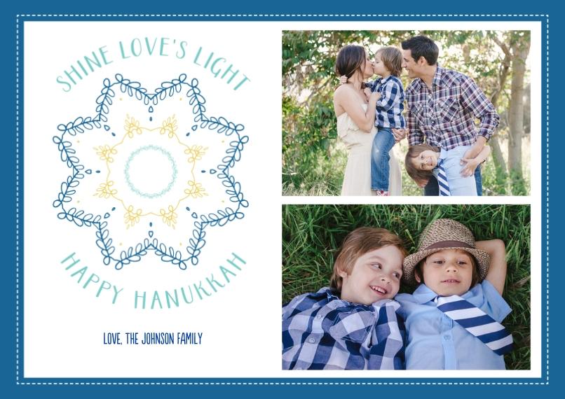 Hanukkah Photo Cards 5x7 Cards, Premium Cardstock 120lb with Elegant Corners, Card & Stationery -Hanukkah Shine Loves Light