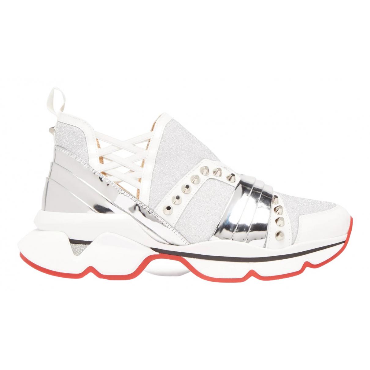 Christian Louboutin - Baskets Red Runner Donna Glitter Sunset pour femme en toile - blanc