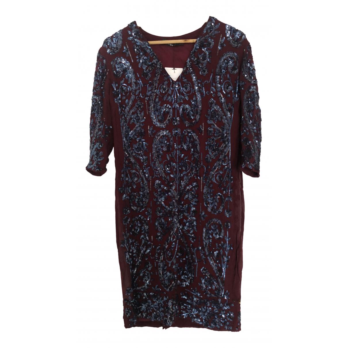 Antik Batik \N Kleid in  Bordeauxrot Baumwolle