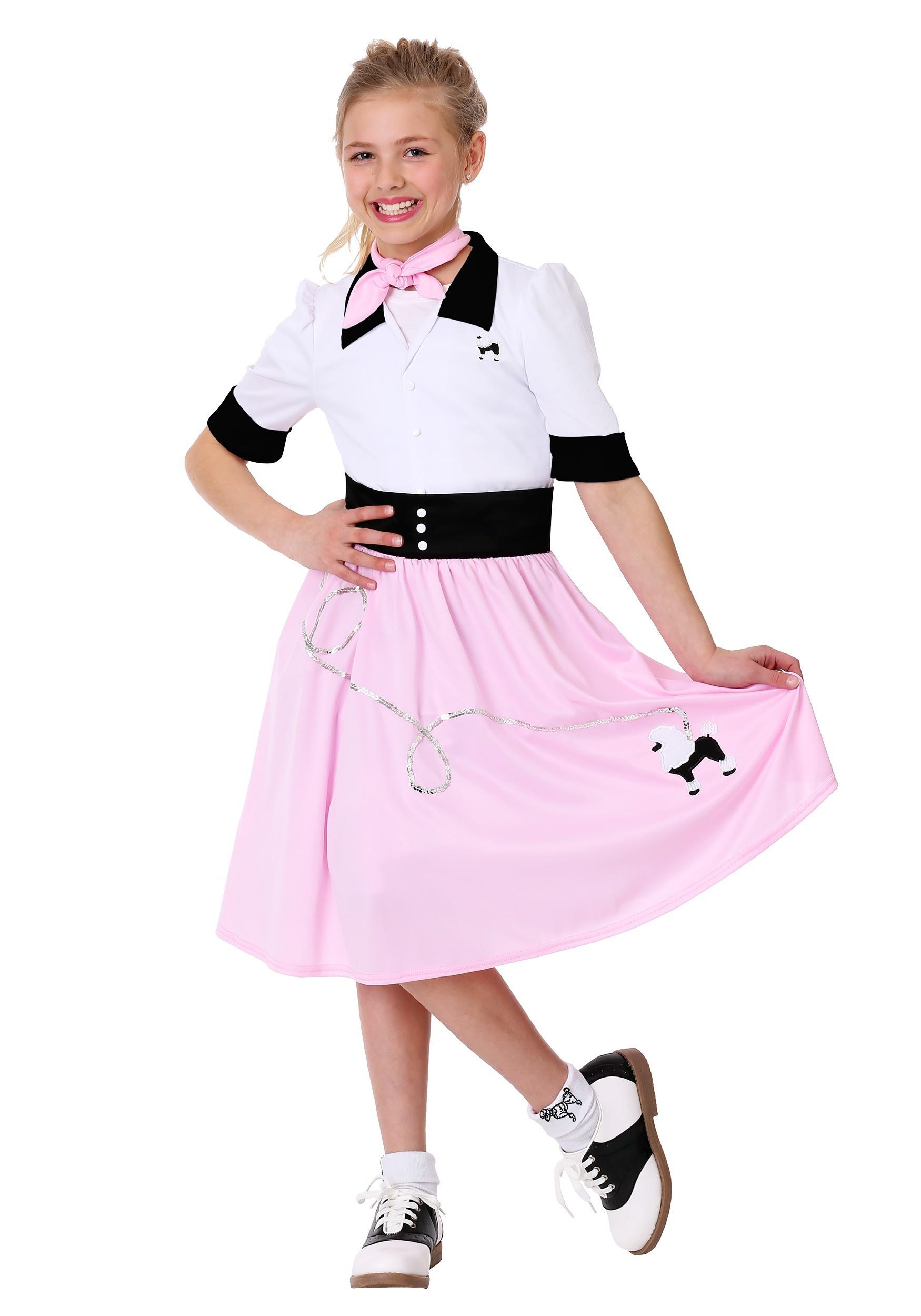 Sock Hop Sweetheart Costume for Girls