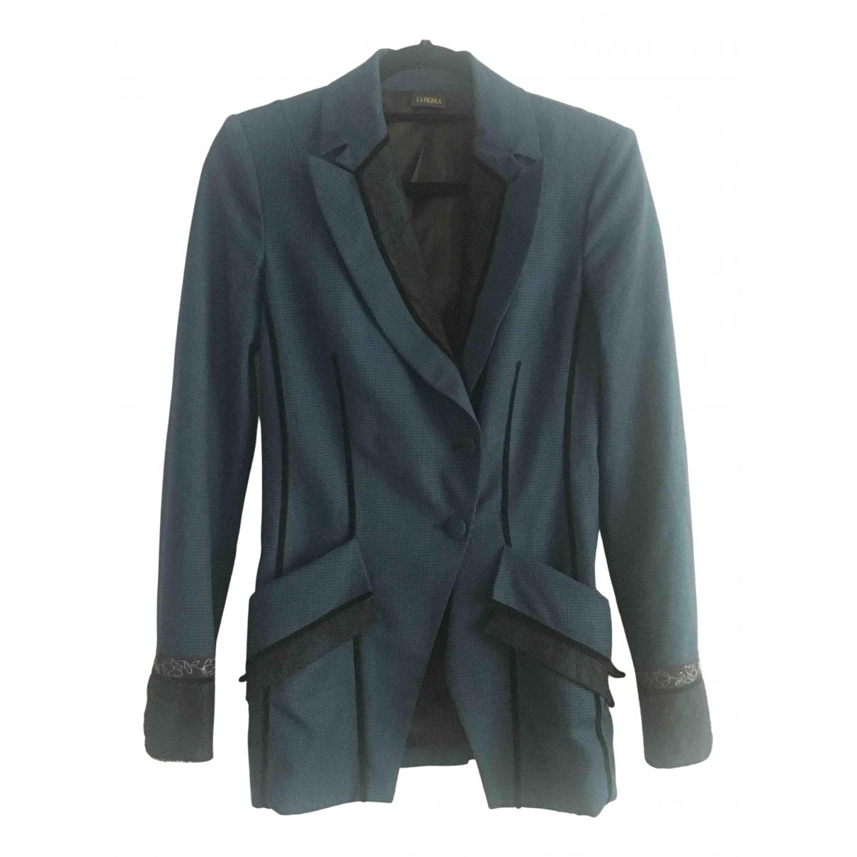 La Perla - Veste   pour femme en laine - bleu
