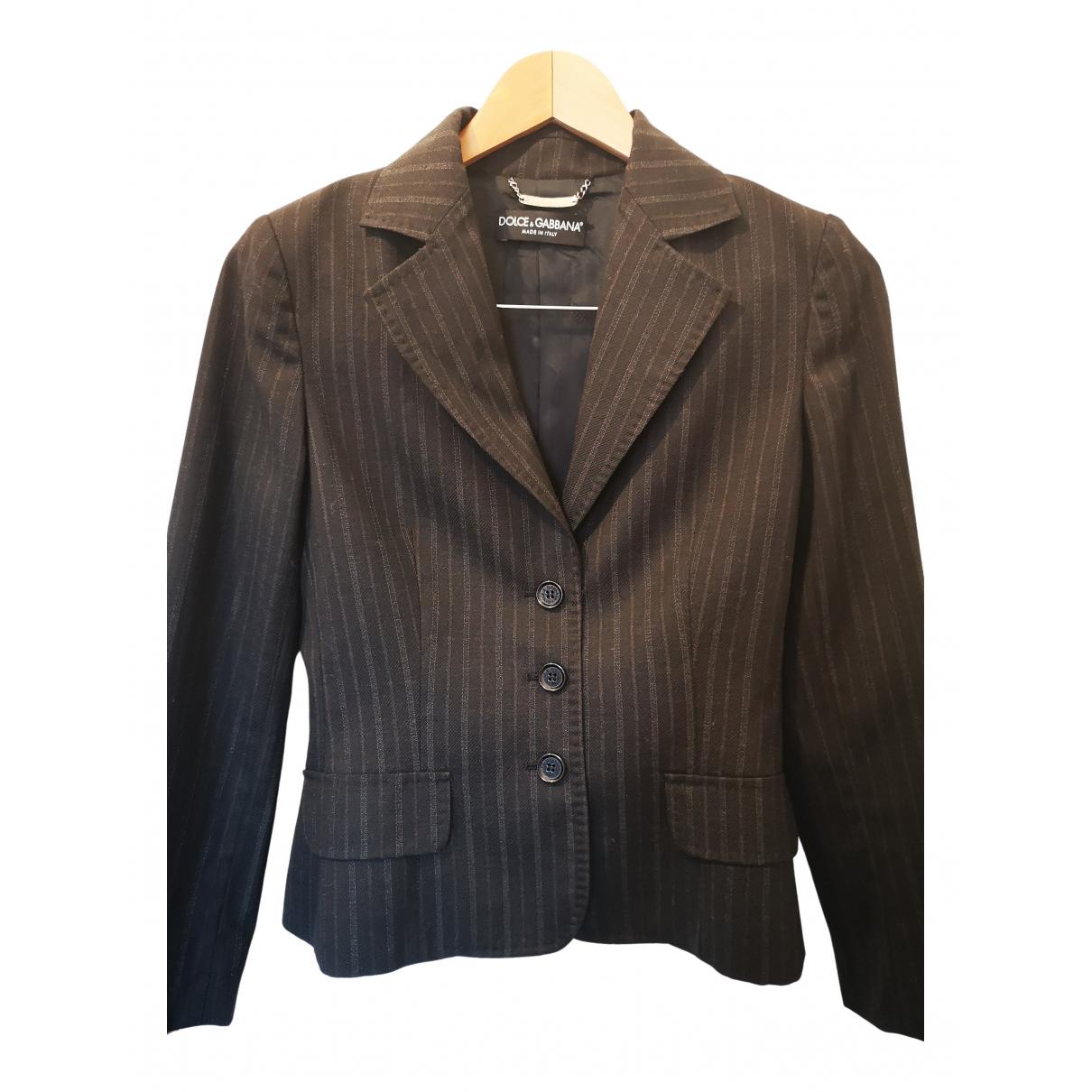Dolce & Gabbana - Veste   pour femme en coton - noir