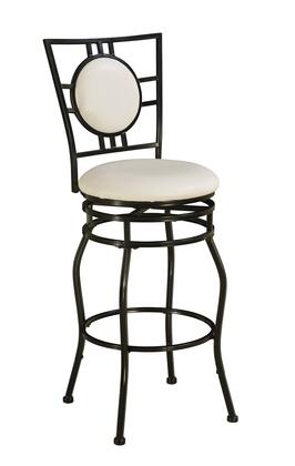 03282MTL-01-KD-U Townsend Collection Adjustable Stool with Adjustable Height  Modern Style  Metal Frame and PU Leather Upholstery in Cream