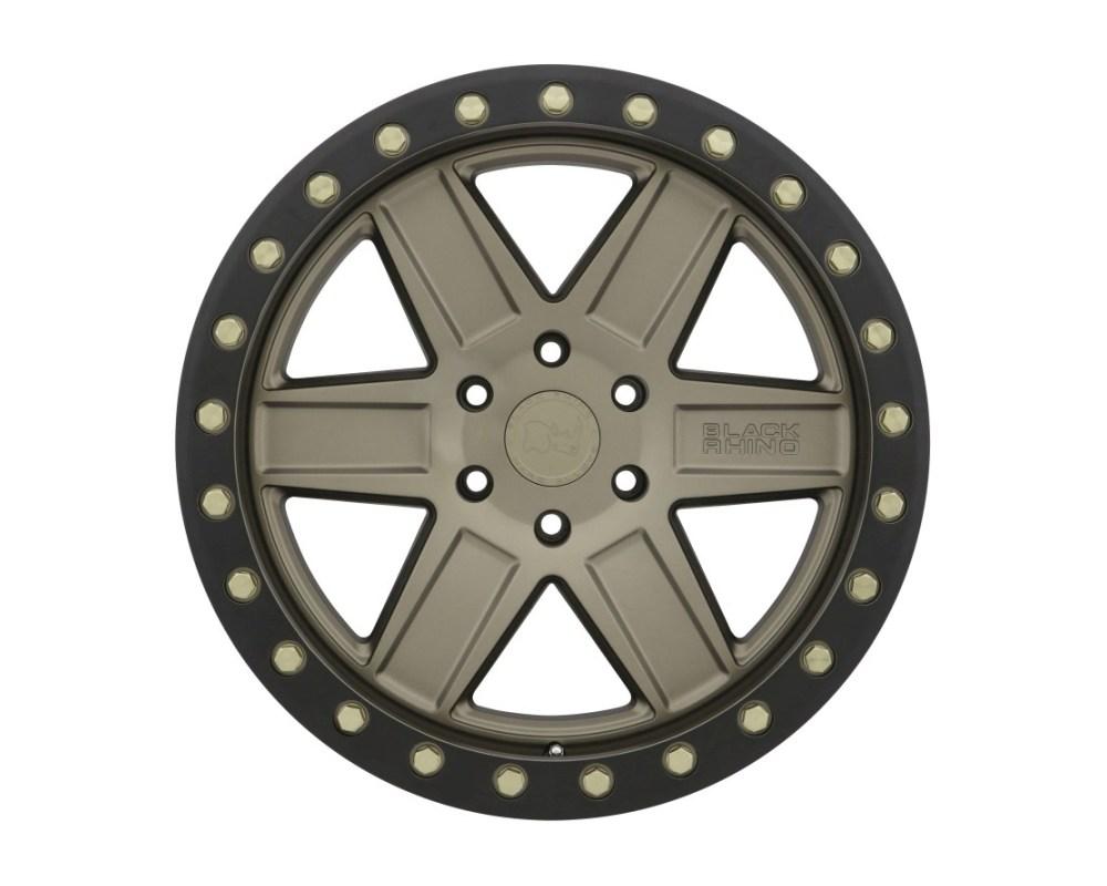 Black Rhino Attica Wheel 18x9.5 6x139.70|6x5.5 -18mm Matte Bronze w/ Black Lip & Brass Bolts