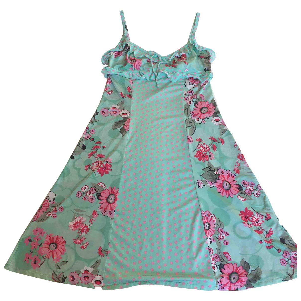 Blumarine \N Kleid in  Tuerkis Synthetik