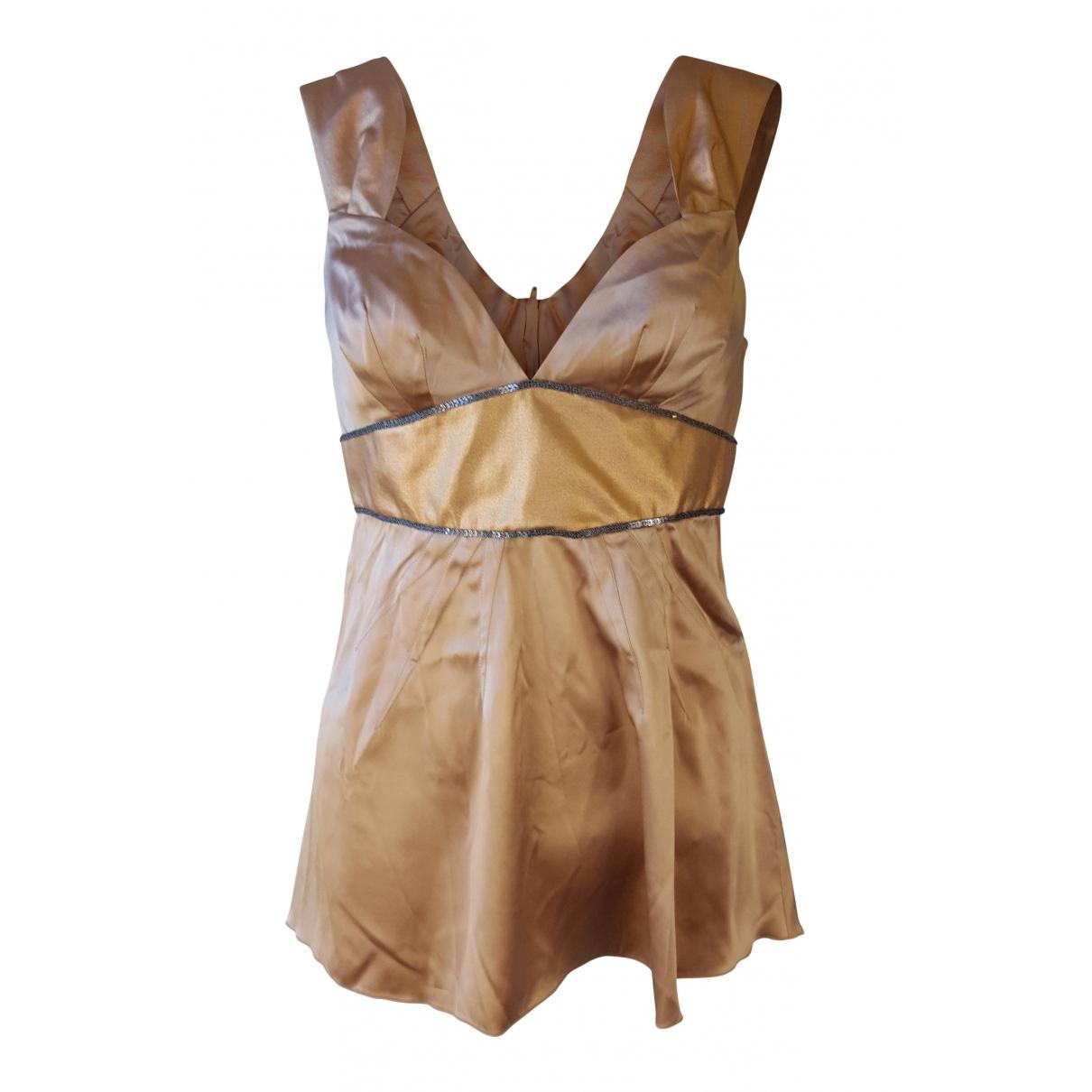 Dolce & Gabbana \N Top in  Metallic Seide