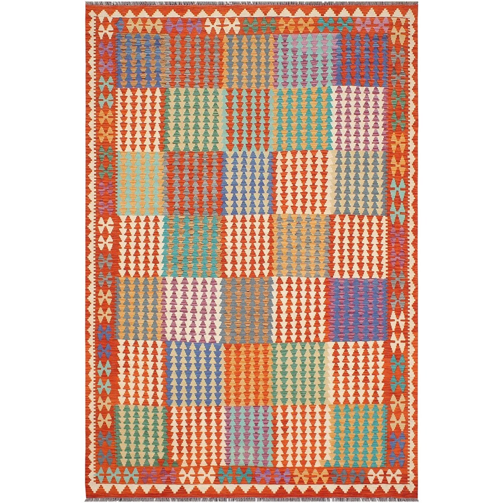Southwestern Turkish Kilim Winnie Hand-Woven Area Rug - 68 x 98 (Blue - 68 x 98)