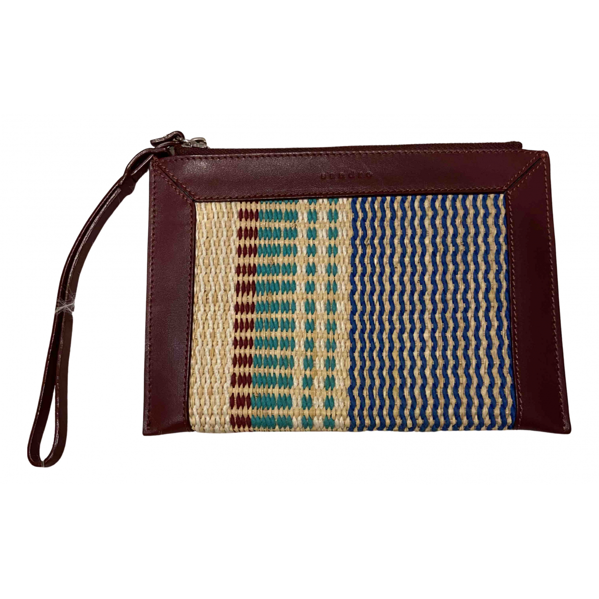 Sandro \N Clutch in  Bordeauxrot Leder