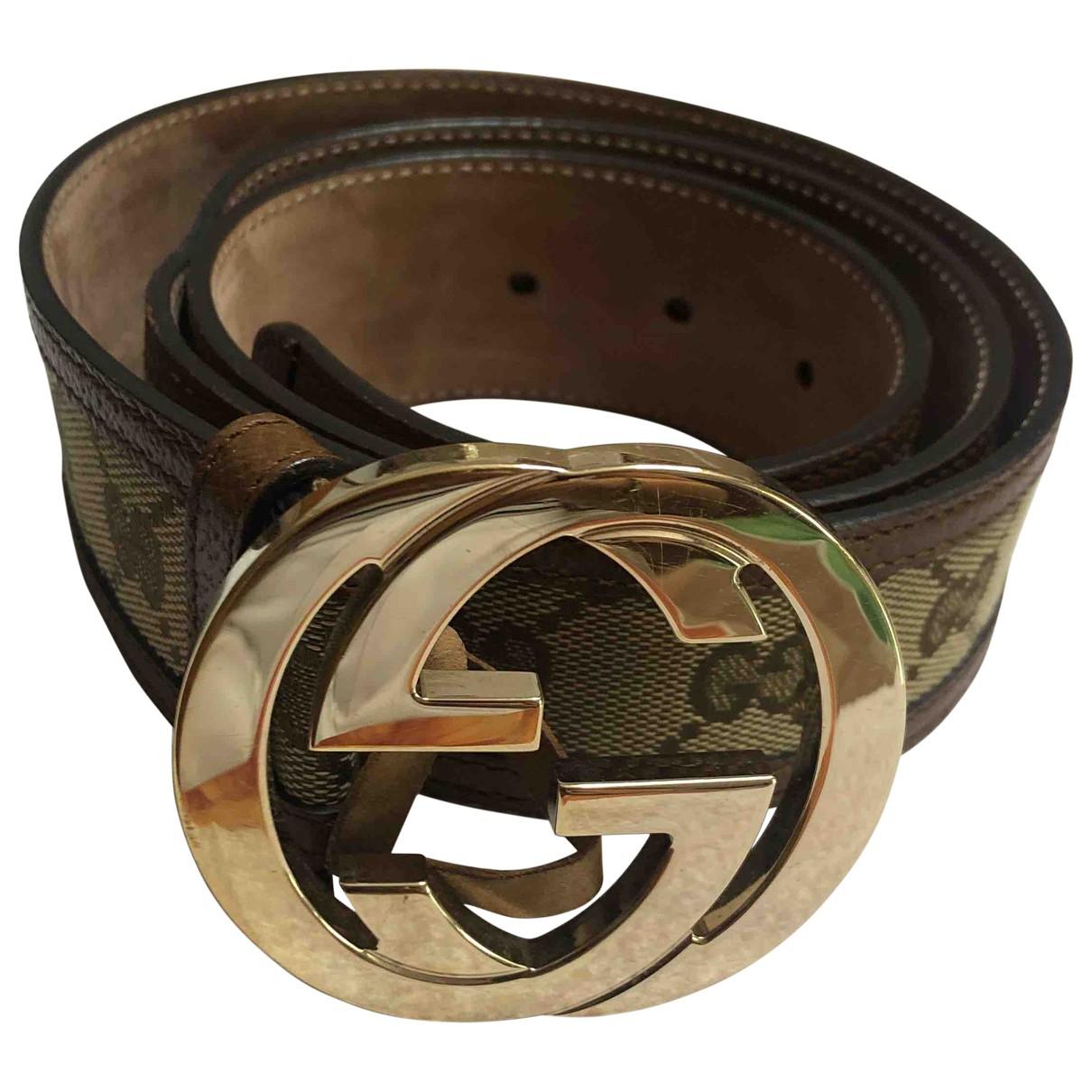 Cinturon GG Buckle de Lona Gucci