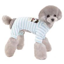 1pc Dog Striped Pajama