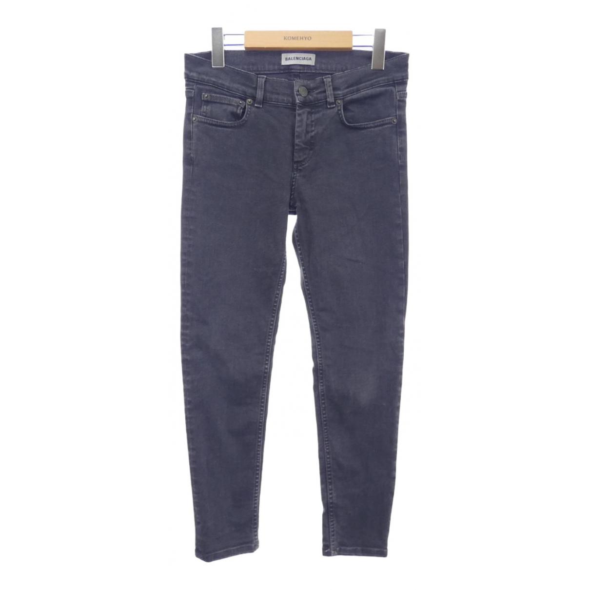 Balenciaga - Jean   pour femme en coton - elasthane - noir