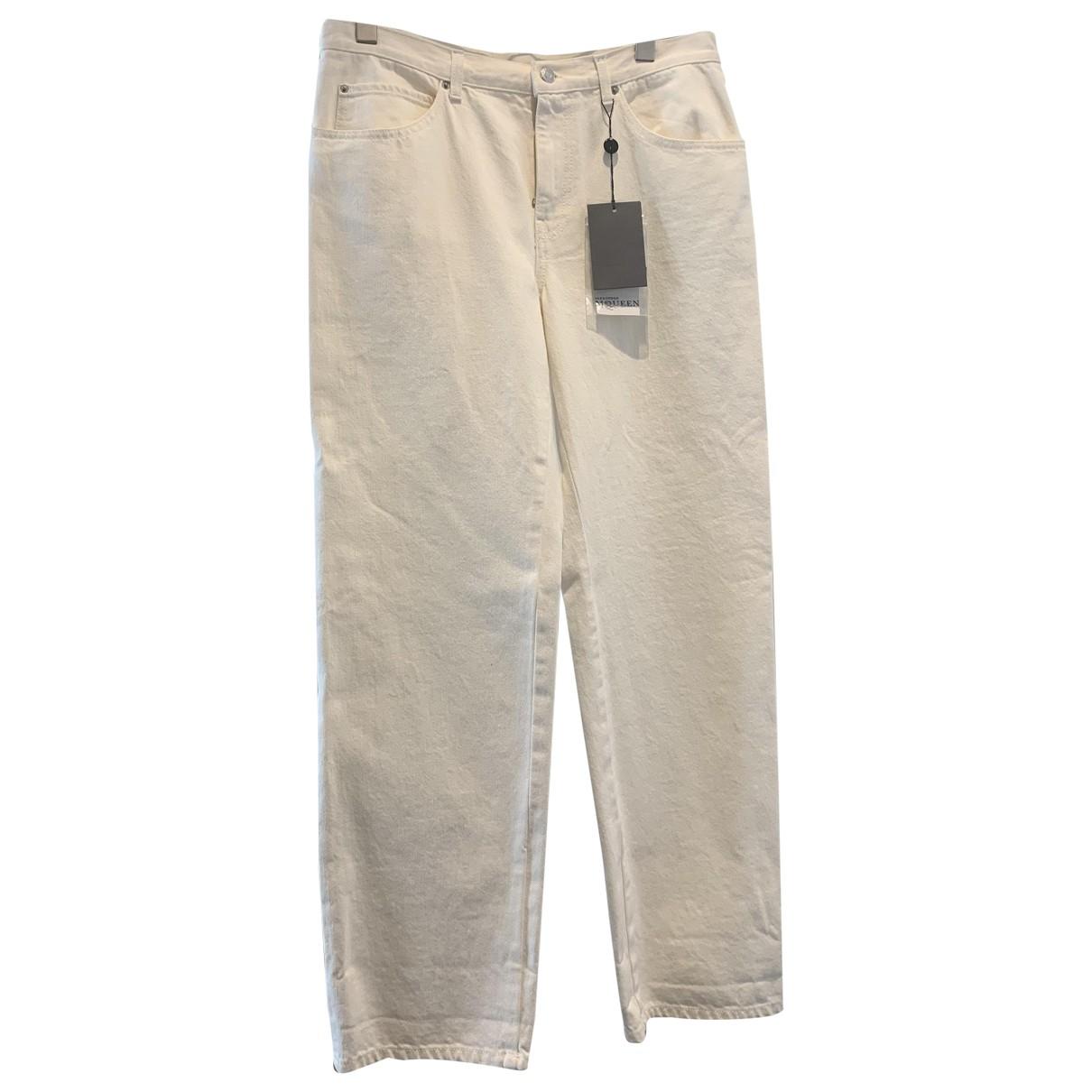 Alexander Mcqueen \N White Denim - Jeans Jeans for Women 40 IT