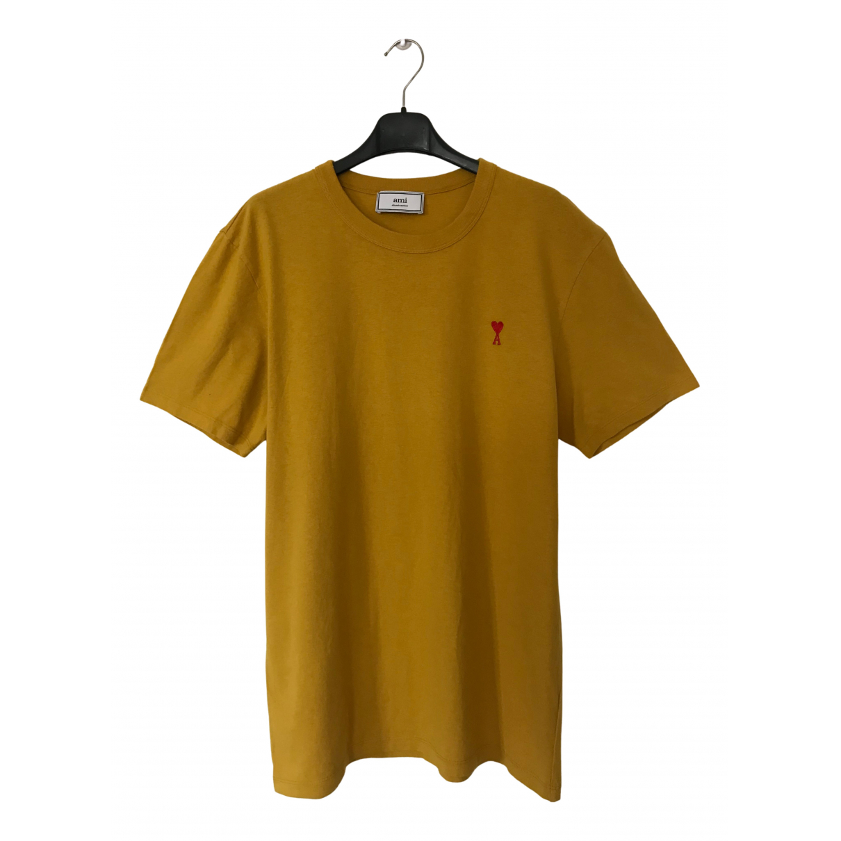 Ami - Tee shirts   pour homme en coton - jaune