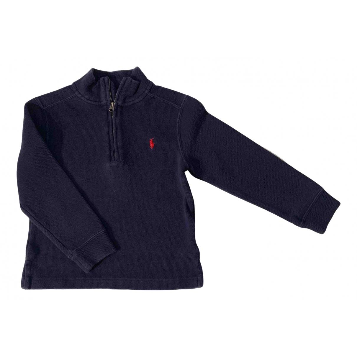 Polo Ralph Lauren - Pull   pour enfant en coton - bleu